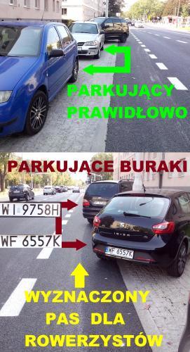 Źle zaparkowany samochód